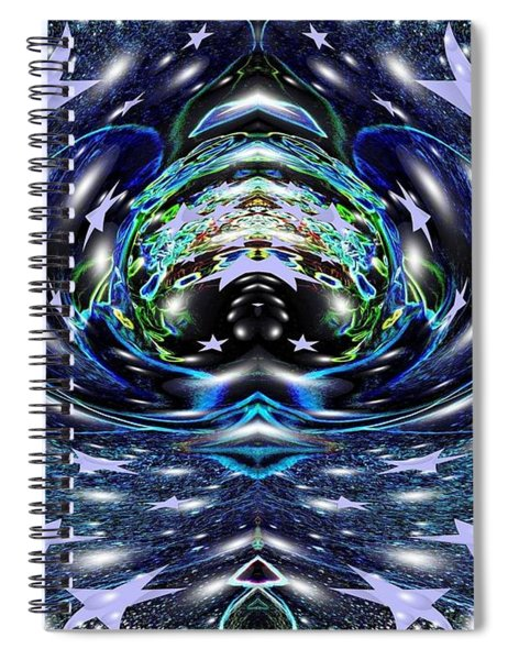 Galactic Wormhole Spiral Notebook