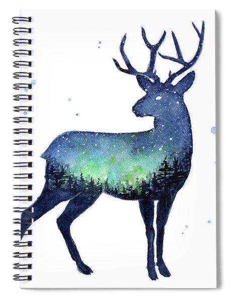 Galaxy Reindeer Silhouette Spiral Notebook