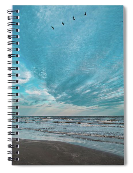 Galveston Island First Light Spiral Notebook