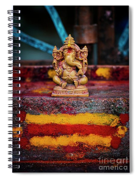 Ganesha On A Rural Hindu Temple Spiral Notebook