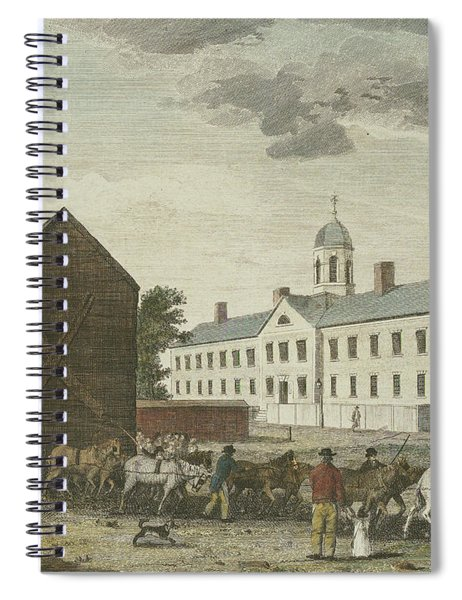 Gaol In Walnut Street Spiral Notebook