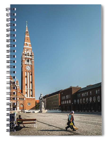 Garbage Cleaners On Dom Square In Szeged  Spiral Notebook