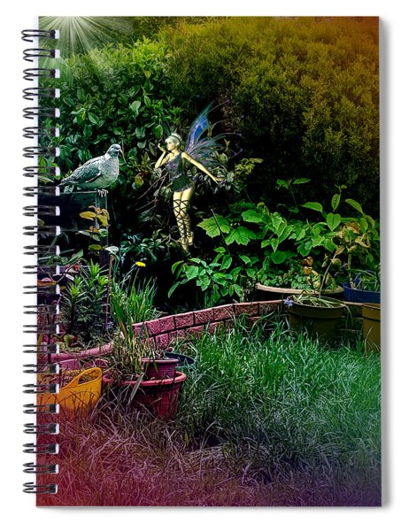 Garden Fairy Fantasy Spiral Notebook