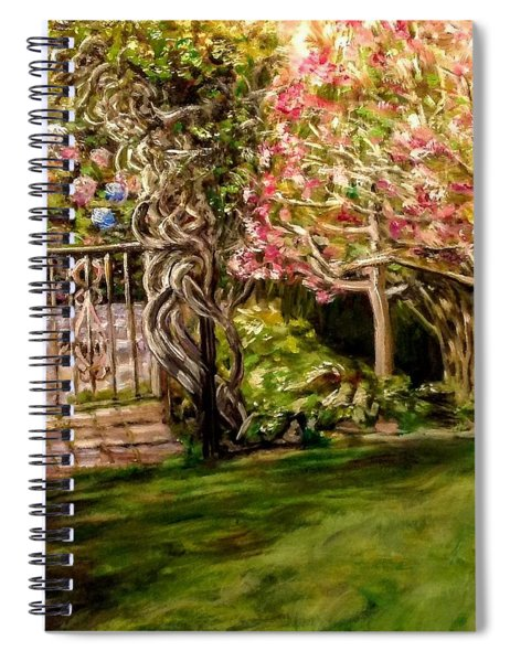 Garden Gate At Evergreen Arboretum Spiral Notebook