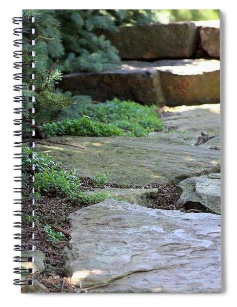 Garden Landscape - Stone Stairs Spiral Notebook