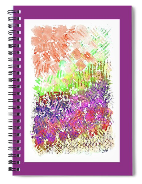 Garden Of Orange And Pink Spiral Notebook