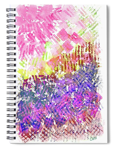 Garden Of Pink And Purple Spiral Notebook