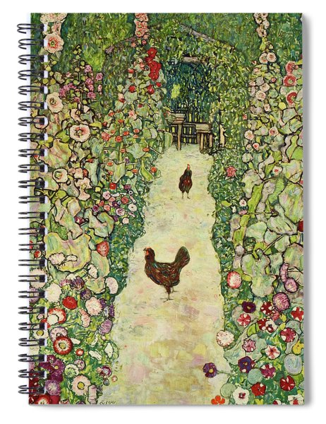 Garden With Chickens, 1916 Spiral Notebook
