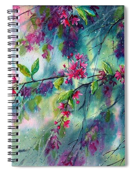 Garlands Full Of Flowers Spiral Notebook