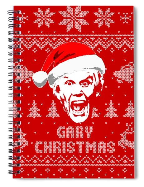 Gary Busey Christmas Shirt Spiral Notebook
