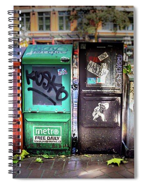 Gastown Street Newsstand Spiral Notebook