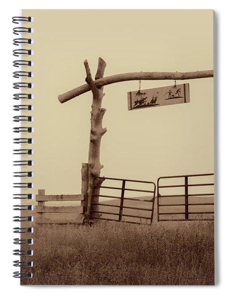 Gate In The Wilderness Spiral Notebook