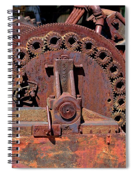 Gears/gears And Rust Spiral Notebook