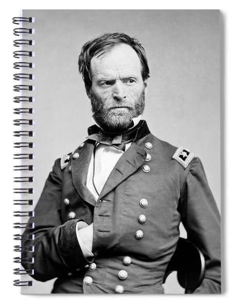 General Sherman - Hand In Coat Portrait Spiral Notebook