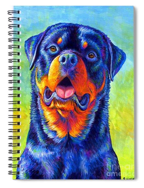 Gentle Guardian Colorful Rottweiler Dog Spiral Notebook