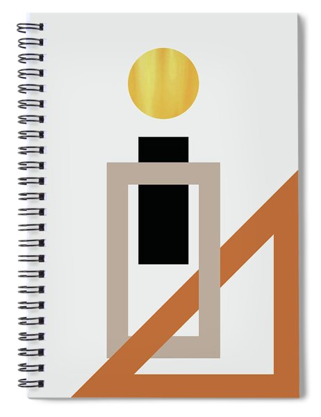 Geometric Painting 10 Spiral Notebook