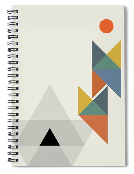Geometric Painting 14 Spiral Notebook