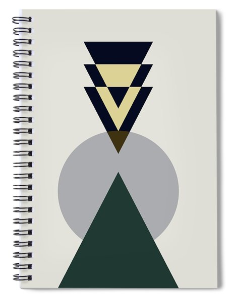 Geometric Painting 16 Spiral Notebook