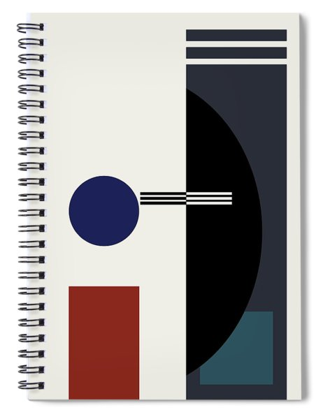 Geometric Painting 9  Spiral Notebook