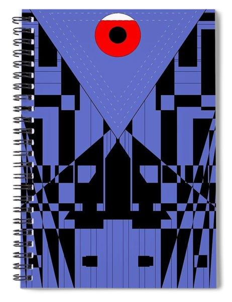 Geometric Red Dot  Spiral Notebook