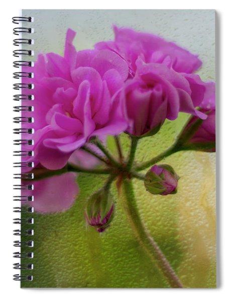 Geranium Rain  Spiral Notebook