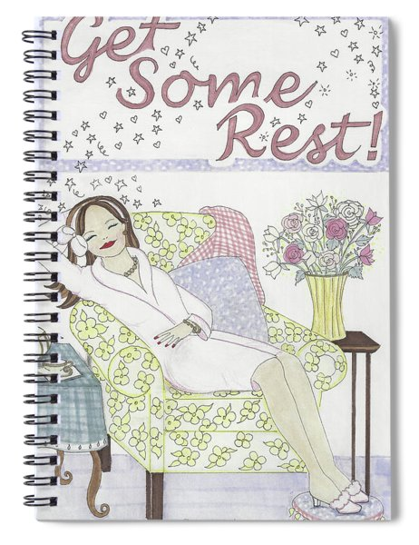 Get Some Rest Spiral Notebook
