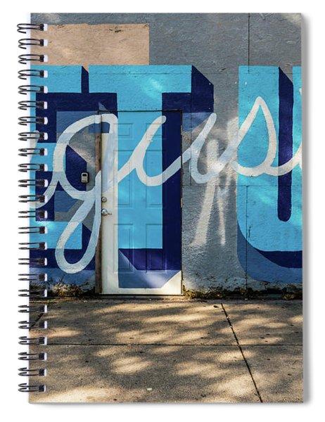 Get Up Augusta Ga Mural  Spiral Notebook