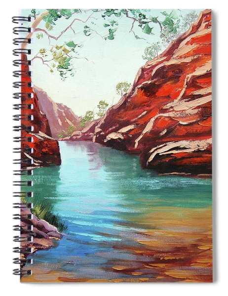 Ghost Gum Alice Springs Spiral Notebook