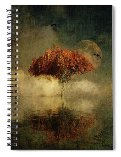 Giant Oak In A Dream Spiral Notebook by Jan Keteleer
