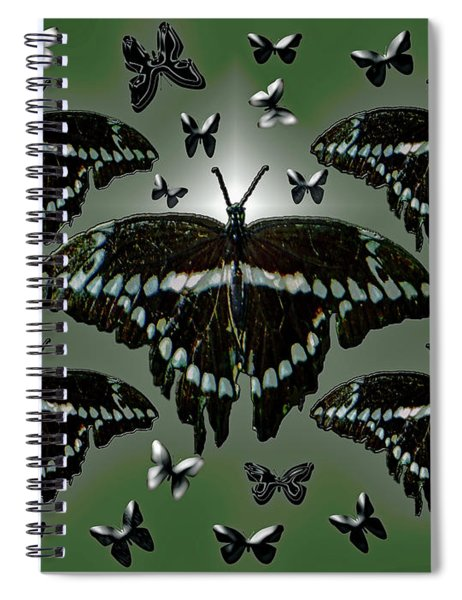 Giant Swallowtail Butterflies Spiral Notebook