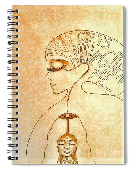 Gifts Of The Mind Spiral Notebook