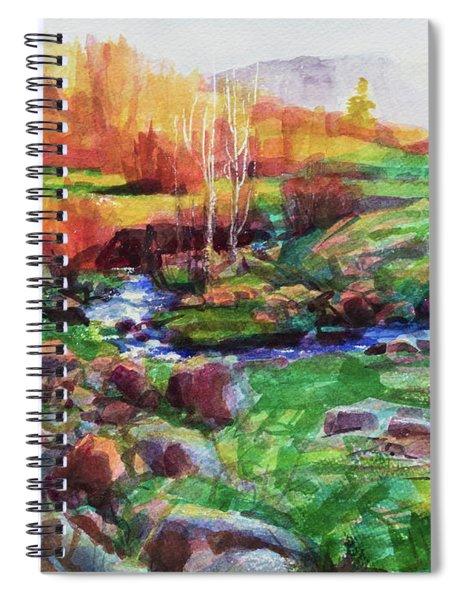 Gilded Hillside Spiral Notebook