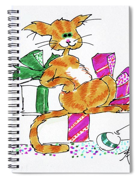 Ginger Cat's Christmas Spiral Notebook