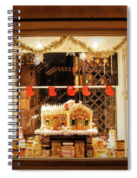 Gingerbread Holiday Window Spiral Notebook