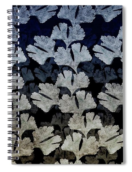 Ginko Leaf Pattern Spiral Notebook