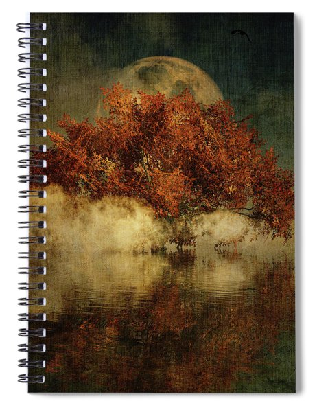 Giant Oak And Full Moon Spiral Notebook