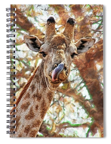 Giraffe Says Yum Spiral Notebook