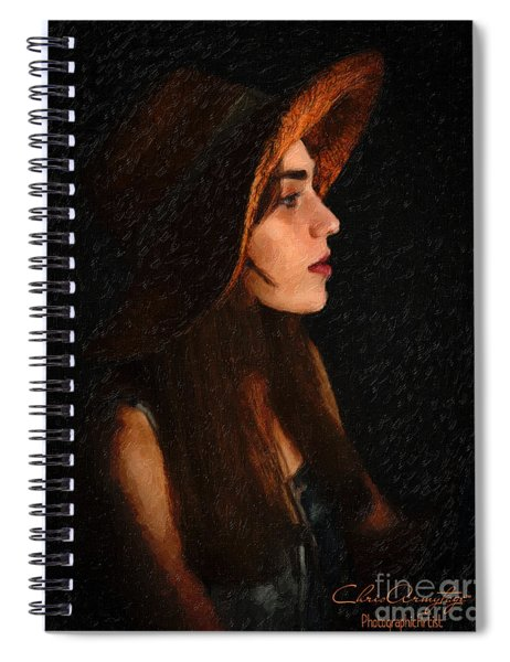 Girl In Hat Spiral Notebook