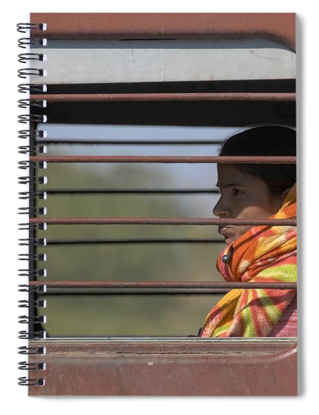 Girl On Train Spiral Notebook
