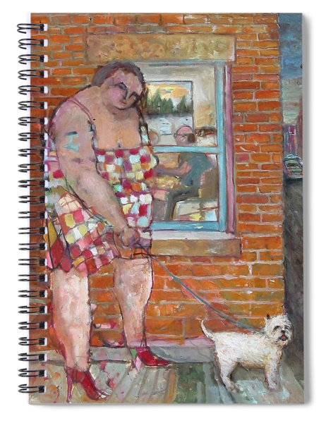 Girl With Little Dog Spiral Notebook
