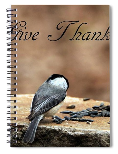Give Thanks Spiral Notebook