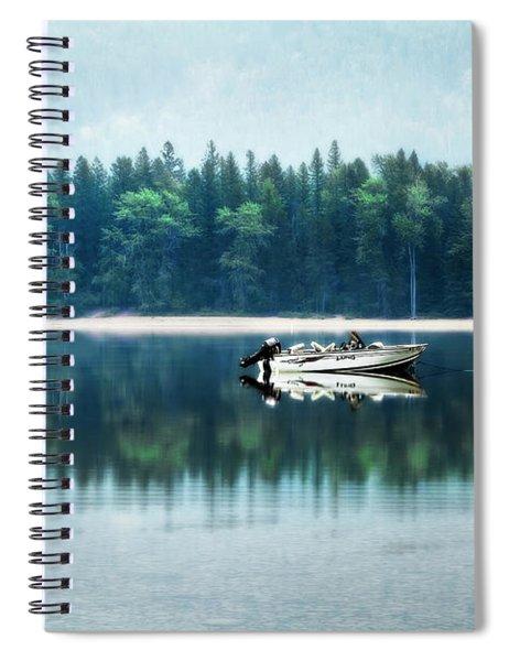 Glacier National Park Lake Reflections Spiral Notebook