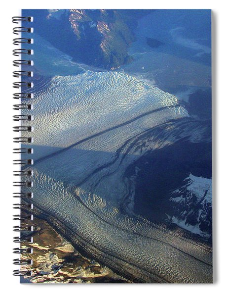Glaciers Converge Spiral Notebook