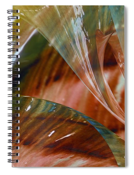 Glass Blowing Dance Spiral Notebook