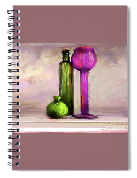 Glass On Glass Spiral Notebook