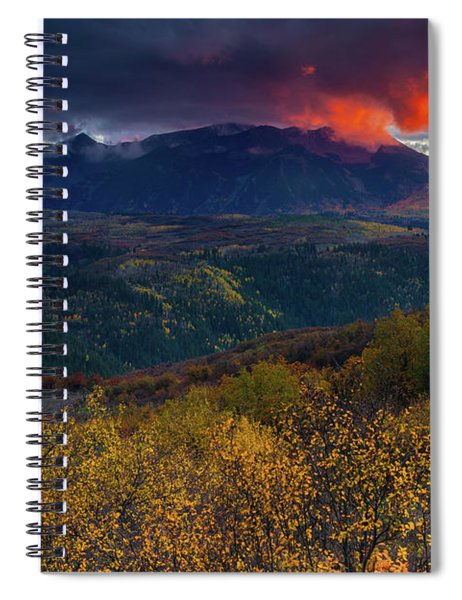 Spiral Notebook featuring the photograph Glimpse Of Heaven by John De Bord