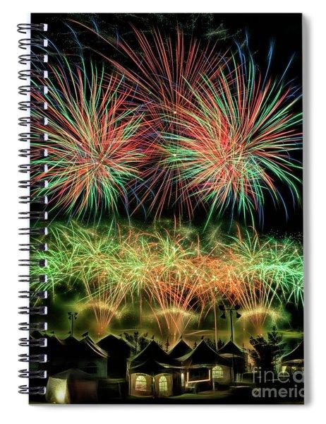 Global Fest Light Show Spiral Notebook