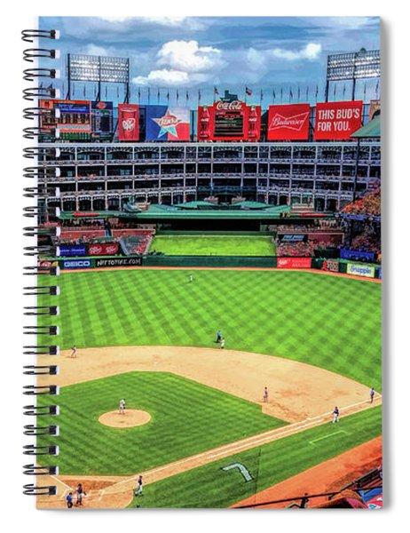 Globe Life Park Texas Rangers Baseball Ballpark Stadium Spiral Notebook
