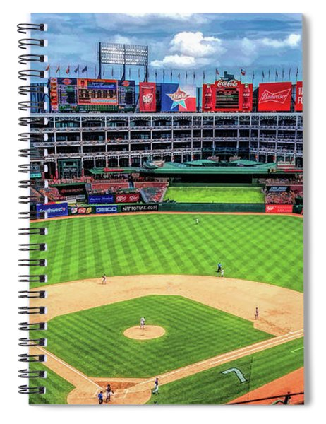 Globe Life Park Texas Rangers Baseball Ballpark Stadium Spiral Notebook