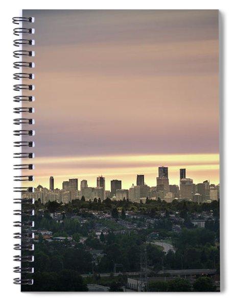 Gloden Sky On Vancouver Spiral Notebook